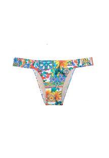 Farvestrålende bikinitrusser med elastiske sidestykker - CALCINHA CERAMICHE COLORATO