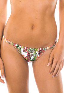 Bikini tanga ajustable con estampado arabesco - CALCINHA CERAMICHE ROSSO