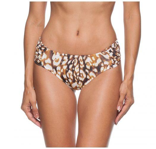 Bikinihose mit drapierten Seiten, Felloptik - CALCINHA DIVA LEOPARD