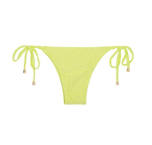 Lime yellow bikini bottom to tie - CALCINHA ESSENCIAL LIMONE