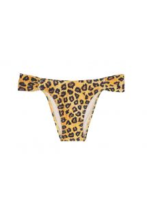 Low-rise animal print bikini bottom - CALCINHA GIAGUARO
