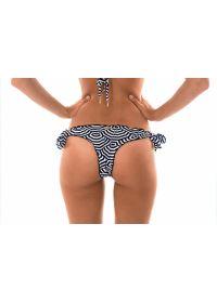 Two-tone geometric print tie-side Brazilian bikini - CALCINHA GUARDA FRUFRU