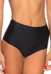 Plain black high-waisted Brazilian bottom - CALCINHA JOELMA