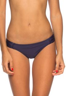 Midnight blue fixed Brazilian bottom with pleated sides - CALCINHA LAYSLA