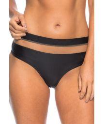 High waist Brazilian bottom black/transparency - CALCINHA LORENA