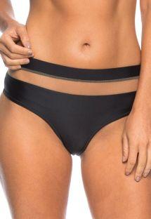 Braguita brasileña cintura alta nerga/traspar - CALCINHA LORENA