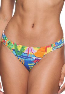 Thong bikini bottom in a multicoloured print - CALCINHA MACKENZIE