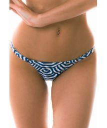 Bikini-String, geometrisches Motive, Farbe: blau, verstellbar - CALCINHA MARINA LISTRADO