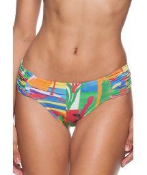 Colourful printed Brazilian bikini bottom - CALCINHA MATISSE DRAPEADA