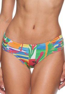 Бразильские плавки с разноцветным принтом в стиле примитивизма - CALCINHA MATISSE DRAPEADA
