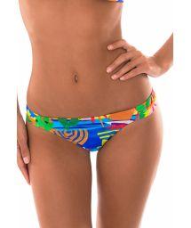 Multicoloured naïve print fixed side swimming tanga - CALCINHA MATISSE SUPER