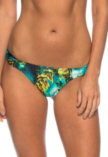 Fixed tanga with seabed design print - CALCINHA NAIANY