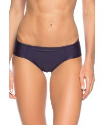 Wide-side night blue Brazilian bikini bottoms - CALCINHA OCEANO ZIPER