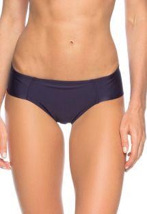 Wide-side night blue Brazilian bikini bottoms - CALCINHA OCEANO ZIPER