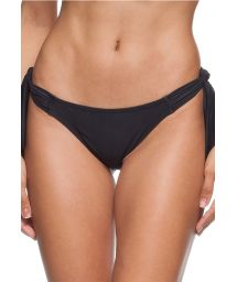 Black Brazilian bikini bottoms with ties - CALCINHA SHANTA