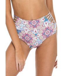 Reversible high-waisted strappy Brazilian bottoms - BOTTOM AZUCAR BRAIDED