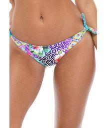 Reversible printed bikini bottoms with ties - BOTTOM BANDANA GUAJIRA