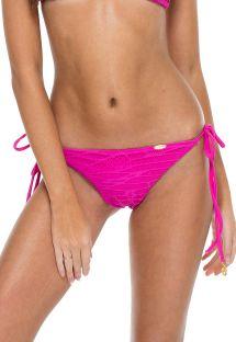 Brazilian pink lace effect bikini bottoms - BOTTOM CARNAVAL SEAMLESS FUCHSIA