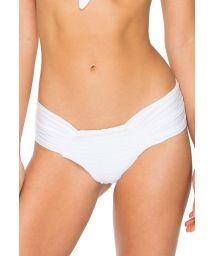 White larger side pleated scrunch bottom - BOTTOM CARNAVAL WHITE BANDANA