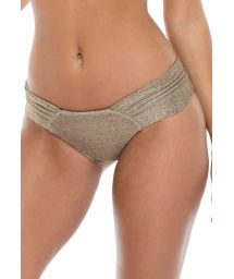 Brazilian bronze scrunch bikini bottoms with wide sides - BOTTOM COMPAI