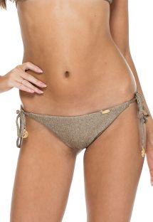 Braguita brasileña scrunch reversible bronce iridiscente - BOTTOM COMPAI BRAIDED