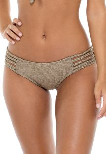 Iridescent bronze multi-strap bikini briefs - BOTTOM COMPAI BRONCE