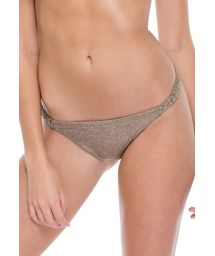 Iridescent bronze reversible fixed bikini briefs - BOTTOM FAMA COMPAI