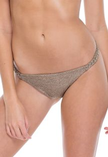 Iridescent bronzereversible fixed bikini briefs - BOTTOM FAMA COMPAI
