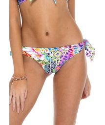Brazilian reversible printed scrunch bikini bottoms - BOTTOM FLORIDITA GUAJIRA