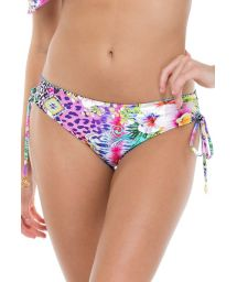 Multicoloured printed bikini bottoms with lace-up sides - BOTTOM GUAJIRA SUPERSTAR