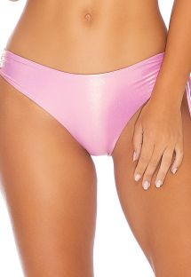 Pink metallic fixed bikini bottom lingerie effect - BOTTOM HALTER ROSE CHAMPAGNE