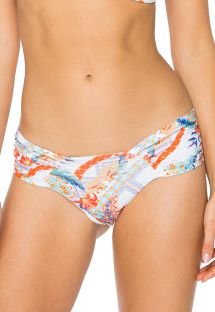 Braguita con laterales anchos blanca y estampado floral - BOTTOM MERENGUITO