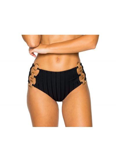 Nederdel med hög midja och öglor, svartrandig ton-i-ton - BOTTOM RING BLACK TIRI TURAI