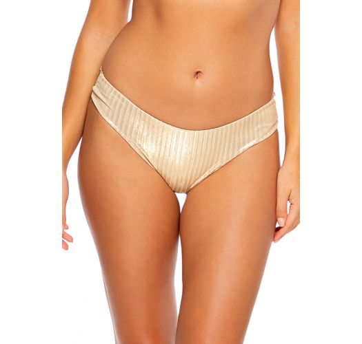 BOTTOM RUCHED GOLD DIPPED