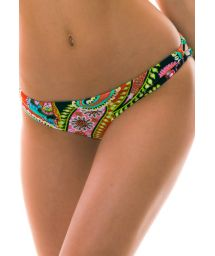 BBS X LULI FAMA - reversible colorful bikini briefs - BOTTOM RUMBA REVERSIBLE ZIG ZAG