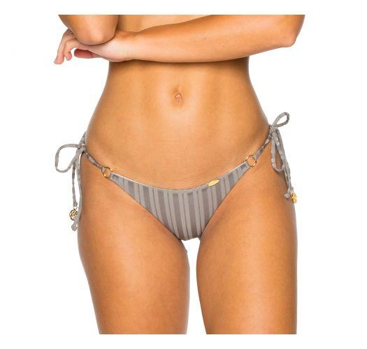 047f774e11c Side-tie grey scrunch Brazilian bikini bottom - BOTTOM SEAMLESS GREY TURI  TURAI