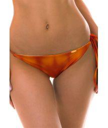 BBS X LULI FAMA Orange tie side bottom - BOTTOM SOL Y ARENA