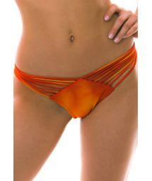 BBS X LULI FAMA Multi-stripes orange tie-dye bikini briefs - BOTTOM SOL Y ARENA STRAPPY