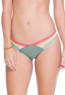 Kaki Strappy-Scrunch-Bikinihose - CALCINHA AGATA