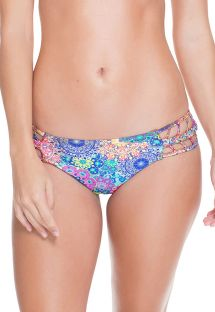 Strappy multicoloured mandala print bikini bottom - CALCINHA ARCO-IRIS
