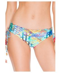 Colourful printed swimsuit bottom with wide sides - CALCINHA CAYO CRISS CROSS
