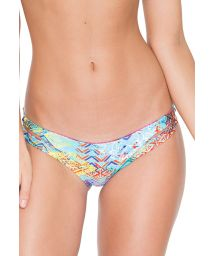 Reversible Brazilian bottom with interwoven strapwork - CALCINHA CAYO REVERSIBLE CUT OUT