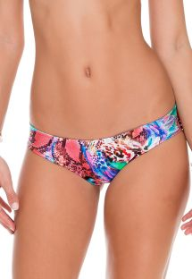 Reversible print non-adjustable swimsuit bottom - CALCINHA CHAOS