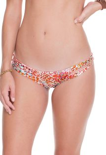 Vändbar bikini med band med djur / rostryck - CALCINHA CRAVO ROSA