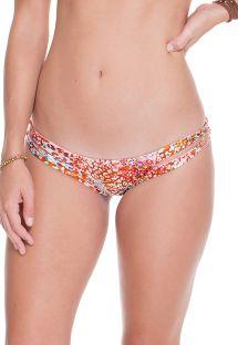 Parte de abajo de bikini strappy reversible animal/rosa - CALCINHA CRAVO ROSA