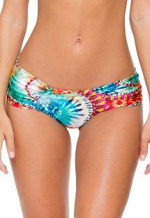 Brasiliansk scrunch bikinitrusse med batikmønster og brede sidestykker - CALCINHA ENCANTADORA SPORTY