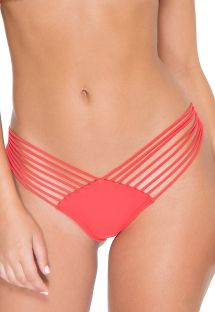 Braguita brasileña scrunch strappy rojo fluo - CALCINHA GIRL ON FIRE