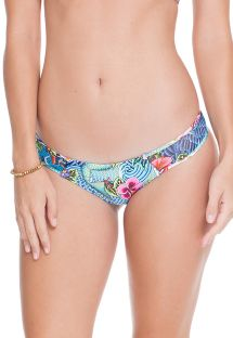 Reversible blue print fixed bikini bottom - CALCINHA INDICO