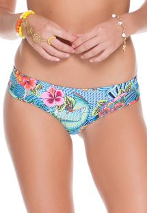 Omkeerbaar, blauwbedrukte bikinistring - CALCINHA INDICO FIO