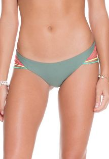 Khaki strappy string bathing bottoms  - CALCINHA JADE